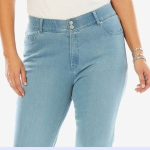 Jessica London Women's Tummy Control Jeans Sz 28W